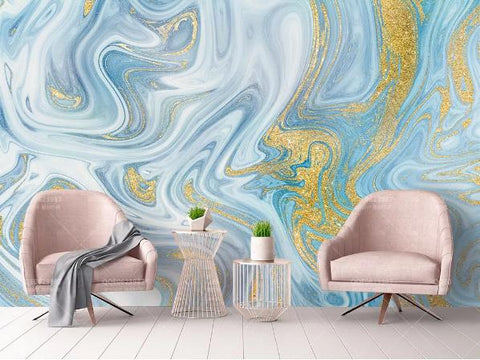 3D Blue Marble Wall Mural Wallpaper 777