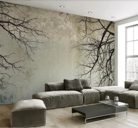 3D Forest Tree Branch Wall Mural Wallpaper 258