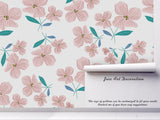 3D pink flower pattern wall mural wallpaper 11