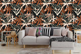 3D Hand Drawn Autumn Leaves Plant Pattern Wall Mural Wallpaper LXL