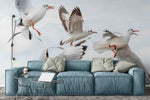 3D sky seagull wall mural wallpaper 25