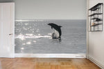 3D Sea Sunlight Dolphin Wall Mural Wallpaper WJ 3119