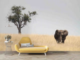 3D Sky Tree Wild Elephant Wall Mural Wallpaper 22 LQH