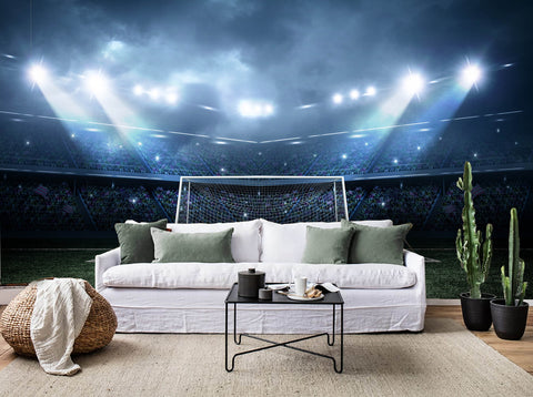 3D Light Football Field Wall Mural Wallpaper 30