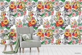 3D Oil Painting Floral Leaves Plant Wall Mural Wallpaper LXL 1346
