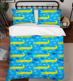 3D Animal Hand Drawn Crocodile Ocean Quilt Cover Set Bedding Set Duvet Cover Pillowcases 47