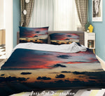 3D Sunset Red Glow Quilt Cover Set Bedding Set Duvet Cover Pillowcases LXL 272
