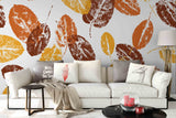 3D yellow leaves wall mural wallpaper 88