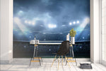 3D football field night light wall mural wallpaper 41
