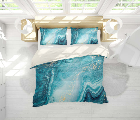 3D  Abstract Ocean Marble Quilt Cover Sets Beddings Sets Pillowcases