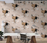 3D Hand Drawn Animal Elephant Wall Mural Wallpaper 13 LQH