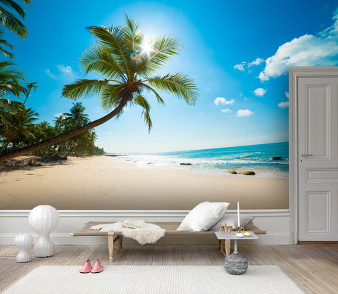 3D Tropical Beach Scenery Wall Mural Wallpaper 136