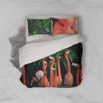 3D Flamingo Green Plant Quilt Cover Set Bedding Set Pillowcases 26