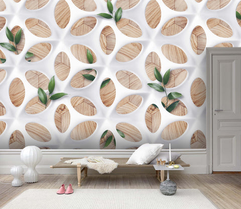 3D Geometric Pattern Wall Mural Wallpaper 121
