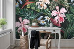 3D Tropical Floral  Wall Mural Wallpaper 29 - Jessartdecoration