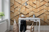 3D Wood Triangle Combination Wall Mural Wallpaper 39