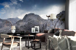 3D mountain goat sky wall mural wallpaper 87