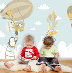 3D Cartoon Balloon Animal Wall Mural Wallpaper 79