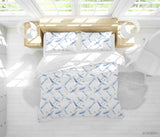 3D Hand Drawn Animal Blue Crane Quilt Cover Set Bedding Set Duvet Cover Pillowcases 95