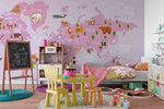 3D world map wall mural wallpaper 14