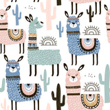 3D Color Cartoon Alpaca Wall Mural Wallpaper 11