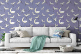 3D white crane moon wall mural wallpaper 59