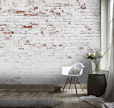 3D White Brick  Wall Mural Wallpaper 18