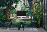 3D Painting Forest Plant Wall Mural Wallpaper WJ 2094