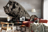 3D plane crash wall mural wallpaper 16