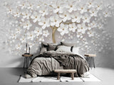 3D Fresh White Floral Tree Wall Mural Wallpaper WJ 2150