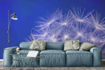 3D blue sky dandelion wall mural wallpaper 3