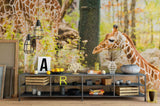 3D giraffe pattern wall mural wallpaper 45