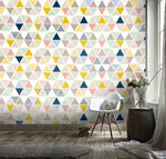 3D Color Triangle Geometry Wall Mural Wallpaper 103