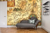 3D Old Pirate Map Wall Mural Wallpaper 9