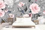 3D Simple Vintage Floral Wall Mural Wallpaper 05 - Jessartdecoration