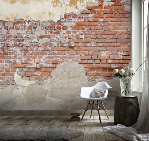 3D Retro Red Brick  Wall Mural Wallpaper 15
