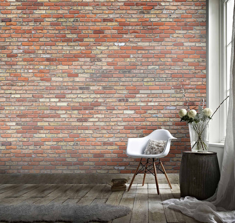 3D Red Brick Wall Effect Wall Mural Wallpaper 115