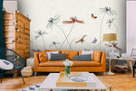 3D Retro Watercolor Floral Wall Mural Wallpaper 16 - Jessartdecoration