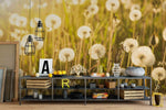 3D dandelion green wall mural wallpaper 32
