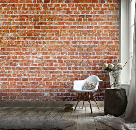 3D Red Brick Wall Background Wall Mural Wallpaper  5