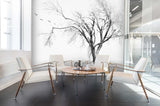 3D Sketch Fog Withered Trees Wall Mural Wallpaper 15