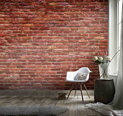 3D Red Brick Wall Background  Wall Mural Wallpaper 27