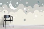 3D Cartoon Cloud Moon Wall Mural Wallpaper 78