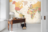 3D World Map Background Wall Mural Wallpaper 48