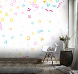 3D White Background Color Symbol Wall Mural Wallpaper 113
