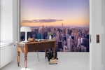 3D City Sunrise Wall Mural Wallpaper 105