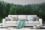 3D green forest wall mural wallpaper 15