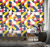 3D Irregular Color Geometric Pattern Wall Mural Wallpaper 117