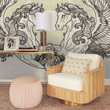 3D horse wings wall mural wallpaper 50