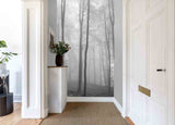 3D fog forest wall mural wallpaper 21